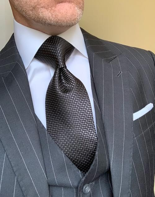 Cubic Charcoal Sheen Tie