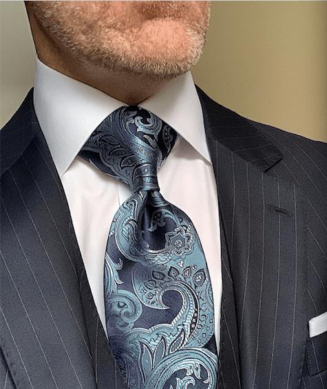 BACK IN STOCK - Ocean Wave Shimmering Paisley Tie