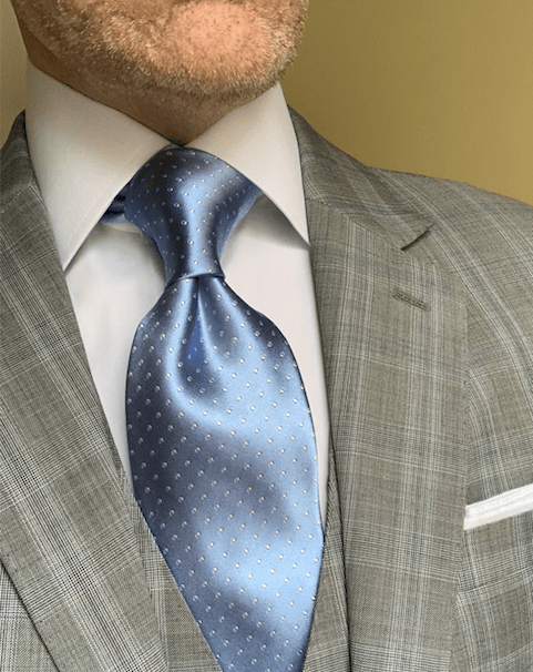 NEW - Icy Light Blue Micro-Dot Tie