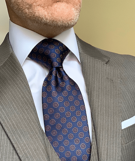 Blue Red Gold Mini-Shield Tie