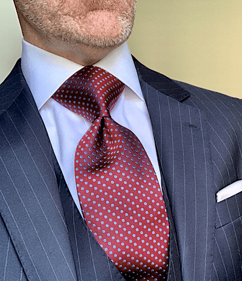 Burgundy with Light Blue Dots Tie