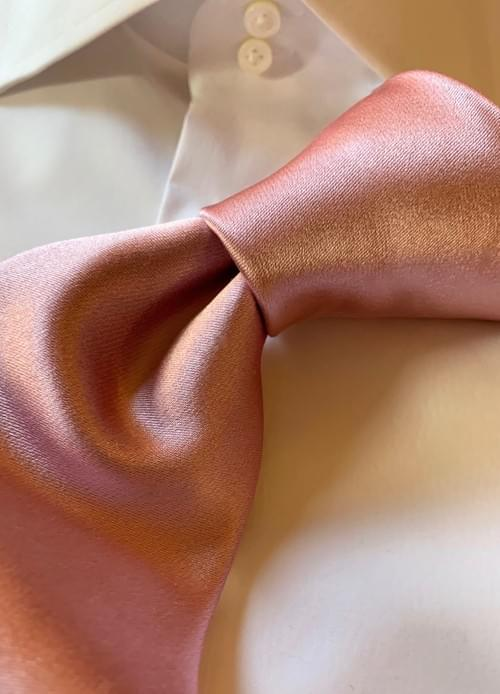 NEW - Ballet Pink Solid Satin Tie