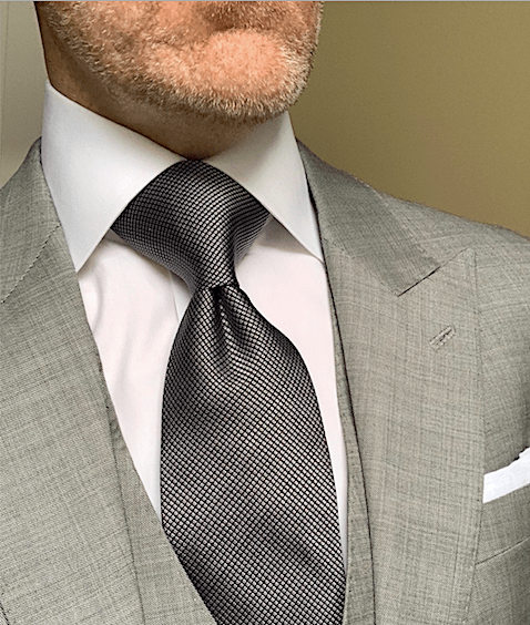 BACK IN STOCK - Black and Silver Micro-Diamond Tie