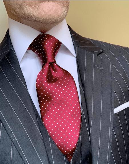 Burgundy Micro-Dot Tie