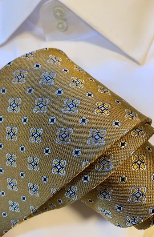 Golden Touch Geometric Sheen Tie