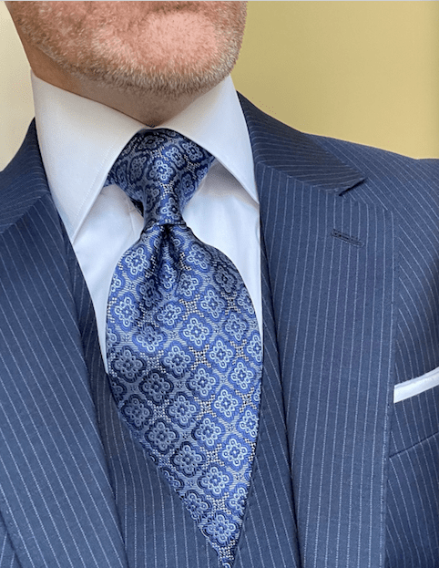 NEW - Blue Silver Executive Tapestry Tie