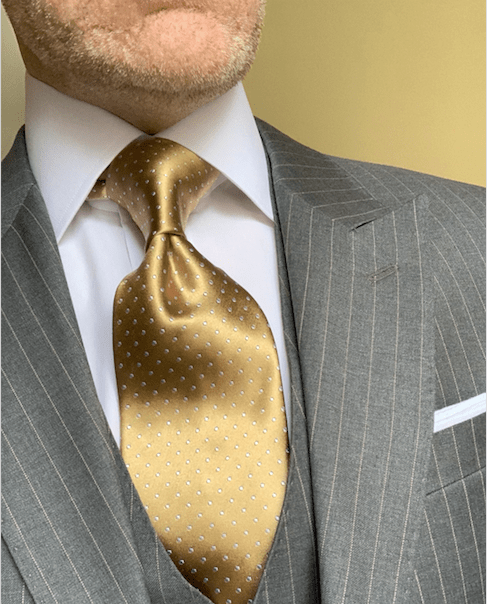 NEW - Metallic Gold Micro-Dot Tie