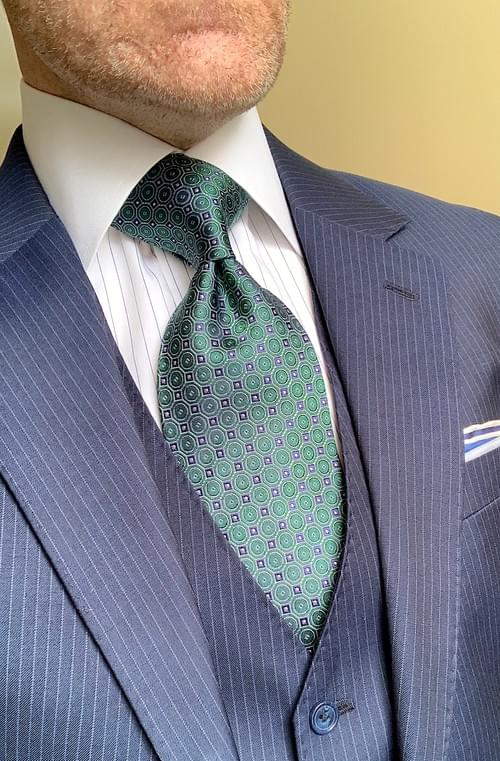 Green Blue Circle Hex Tie