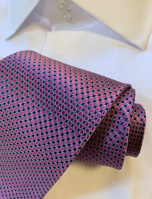 BACK IN STOCK - Pink Shimmer Dotted Tie