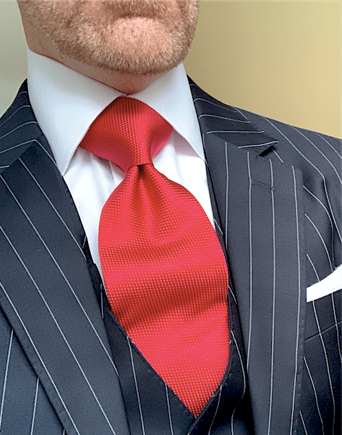 Red Shimmer Tie