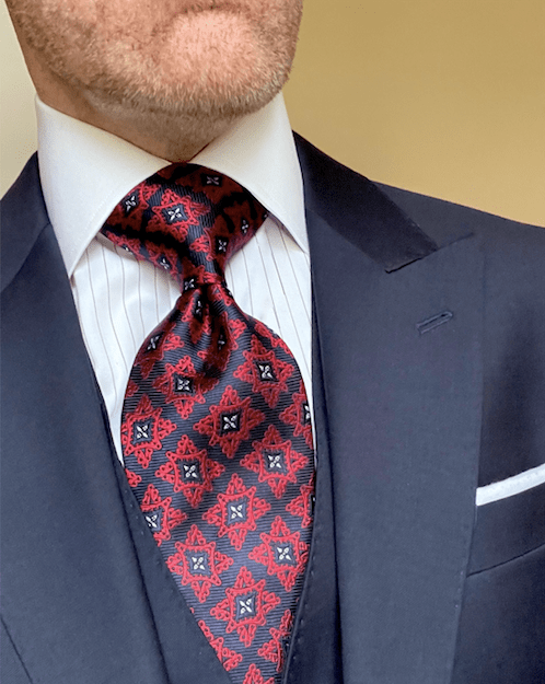 NEW - Red Navy Continental Tie