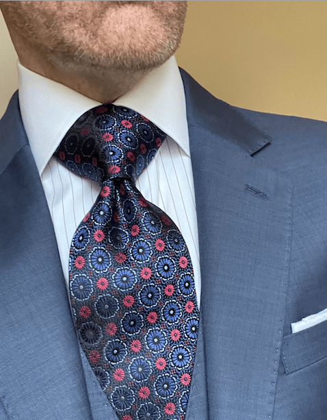 NEW - Navy Red Starburst Tie