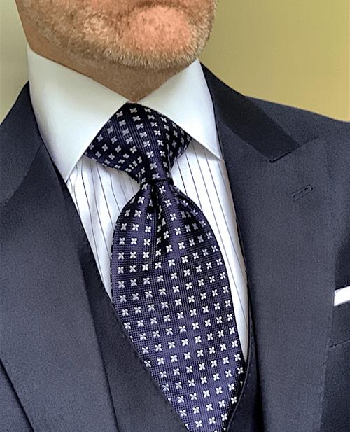 NEW - Navy Fleur Tie