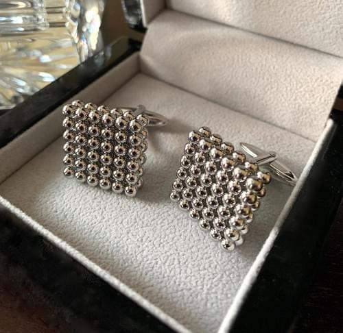 NEW - Steel Pearls Cufflinks