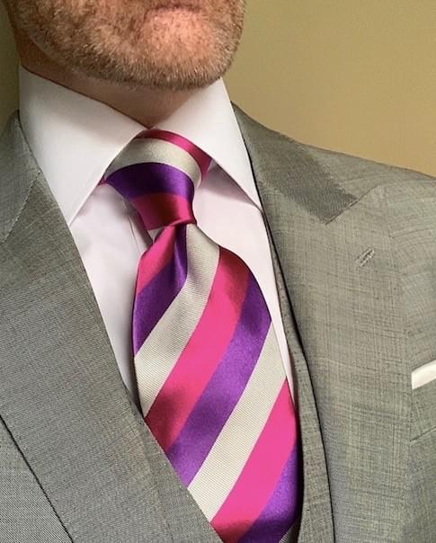 NEW - Groovy Hot Purple Striped Tie