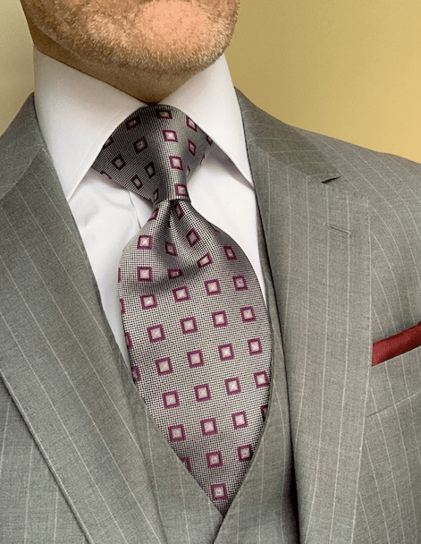 NEW -  Pink Square Dots Tie