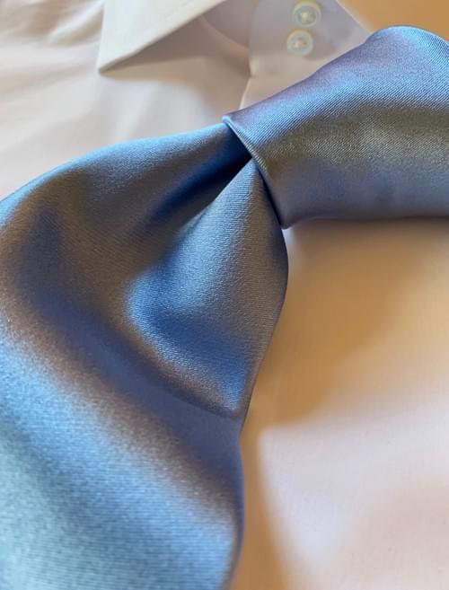 Light Blue Solid Satin Tie