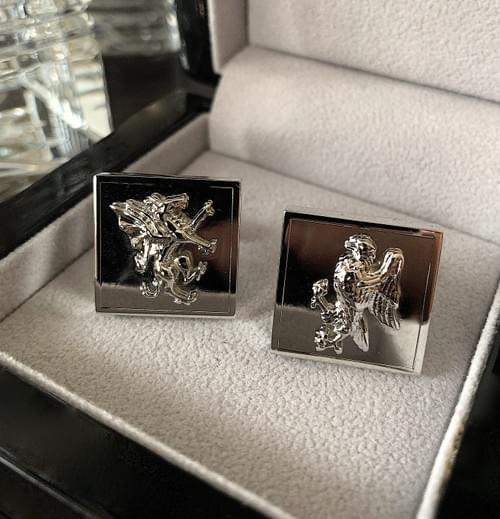 NEW - Dragon & Eagle Steel Cufflinks