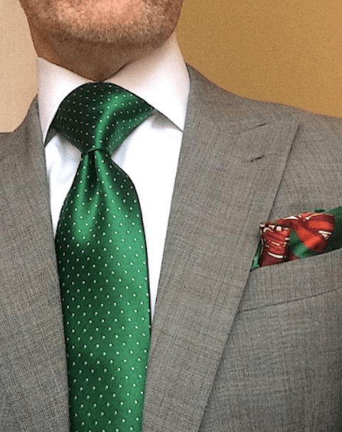 NEW - Evergreen Micro-Dot Tie