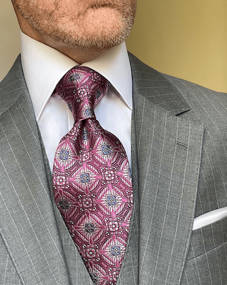 NEW - Pink Snow Crystal Sheen Tie