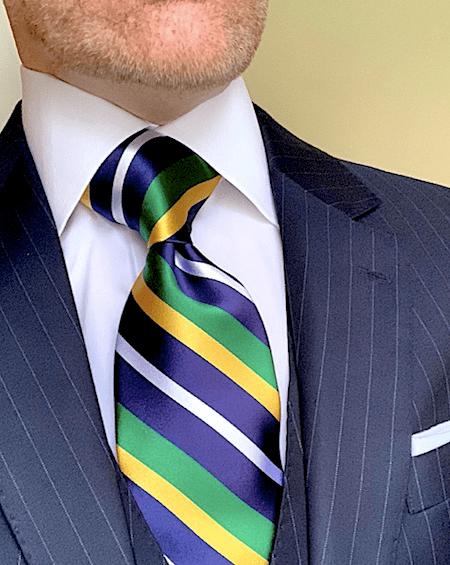 Brasileiro Striped Tie