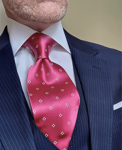 NEW - Deep Pink Diamond Dots Tie
