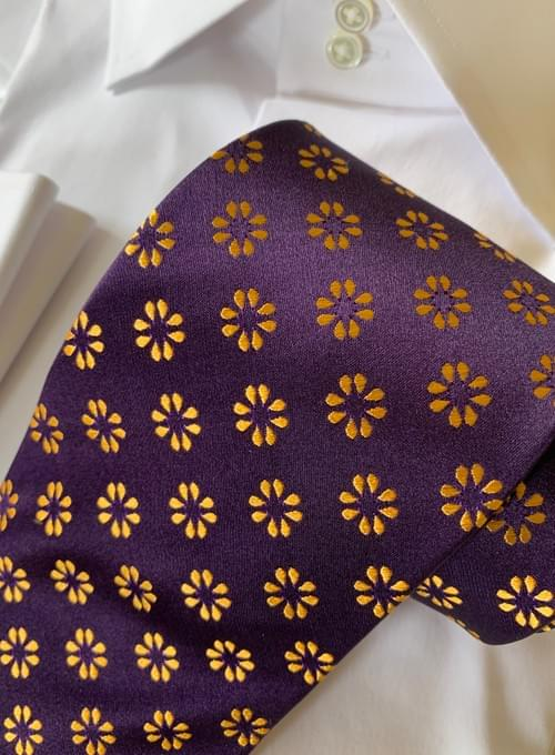 Purple Golden Cheer Tie