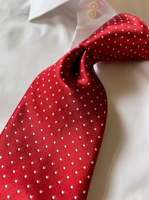 Red Micro-Dot Tie