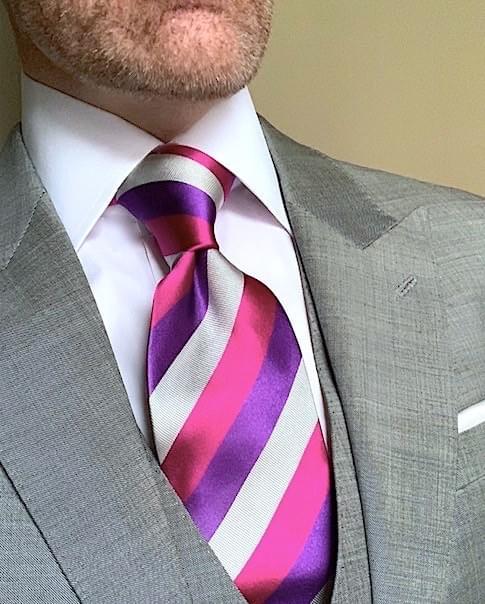 NEW - Hard Candy Pink & Purple Striped Tie