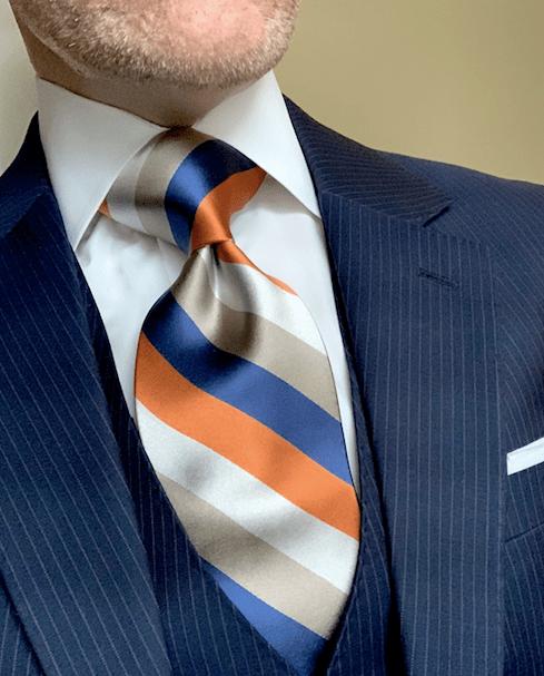 NEW - Mile High Satin Striped Tie
