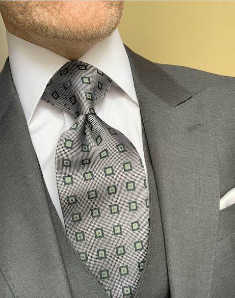 NEW -  Green Square Dots Tie