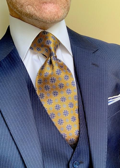 Sea Captain Gold and Blue Tie