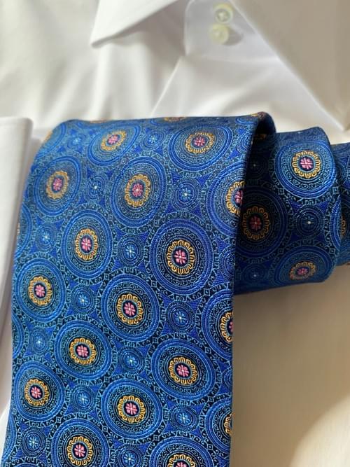 Blue Sunshine Kaleidoscope Tie