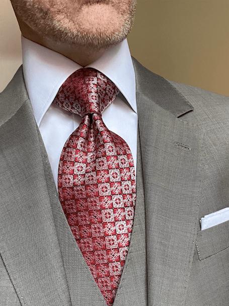 NEW - Red Tan Vintage Squares Tie