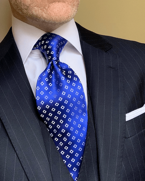 NEW - Royal Blue Diamond Dots Tie