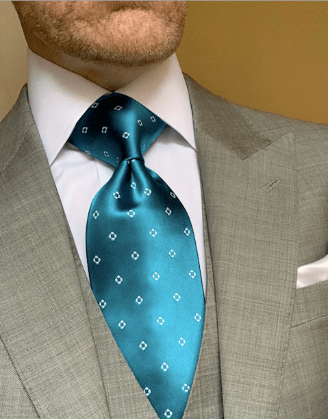 NEW - Aqua Diamond Dots Tie