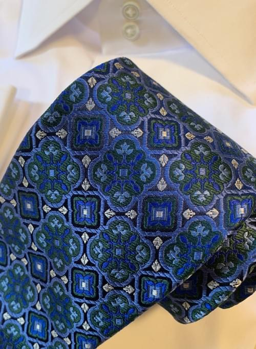 BACK IN STOCK - Blue Icy Moss Stained Glass Tie