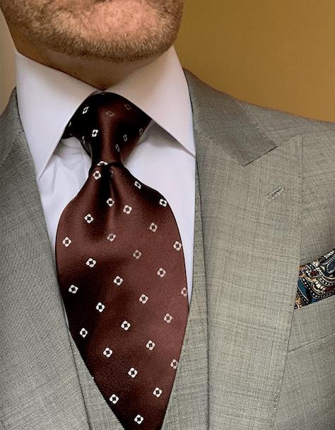 Chocolate Brown Diamond Dots Tie
