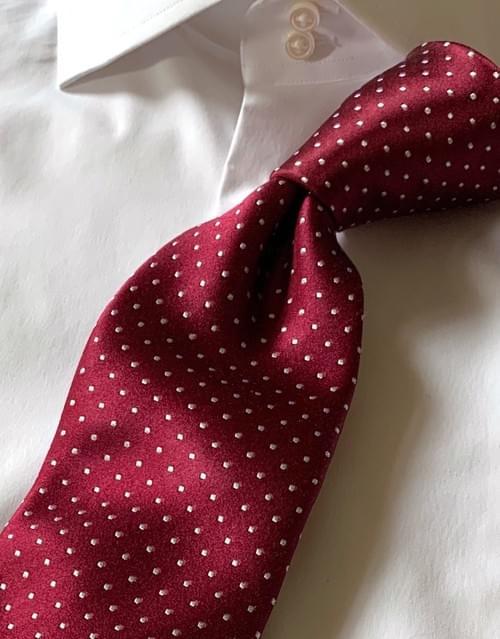 NEW - Burgundy Micro-Dot Tie