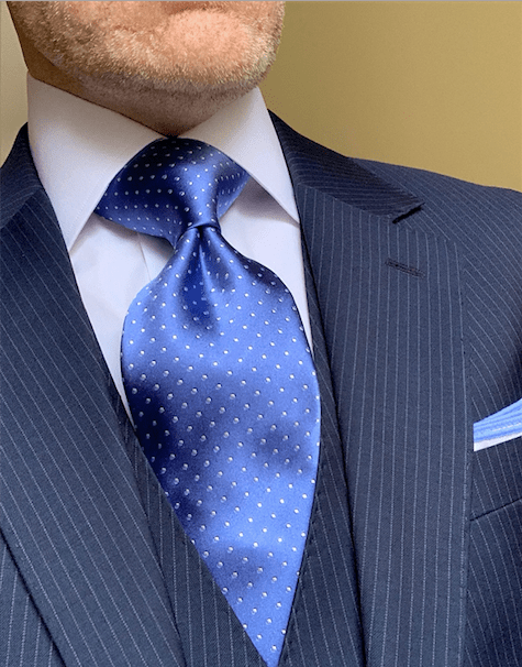 NEW - Ocean Blue Micro-Dot Tie