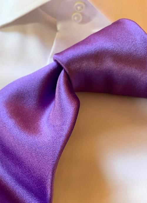NEW - Purple Solid Satin Tie