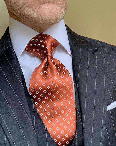 Copper Diamond Dots Tie