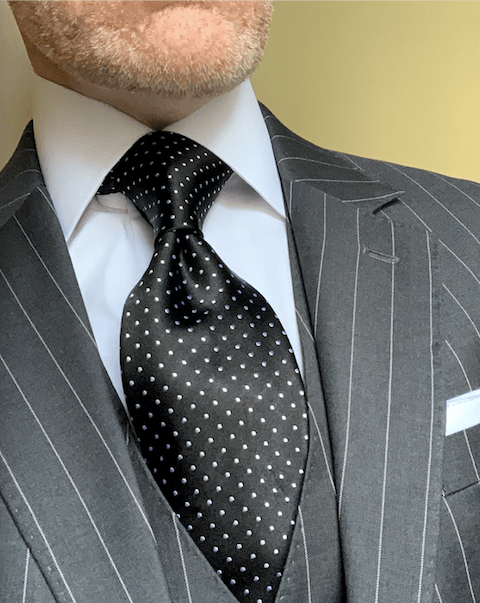 NEW - Black Micro-Dot Tie