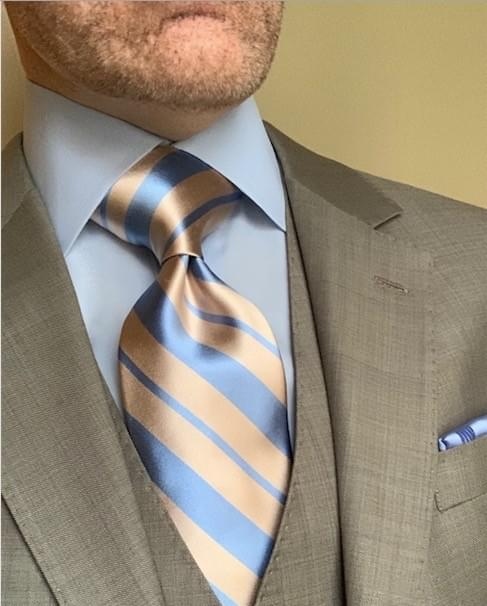 NEW - Sand And Surf Satin Striped Tie