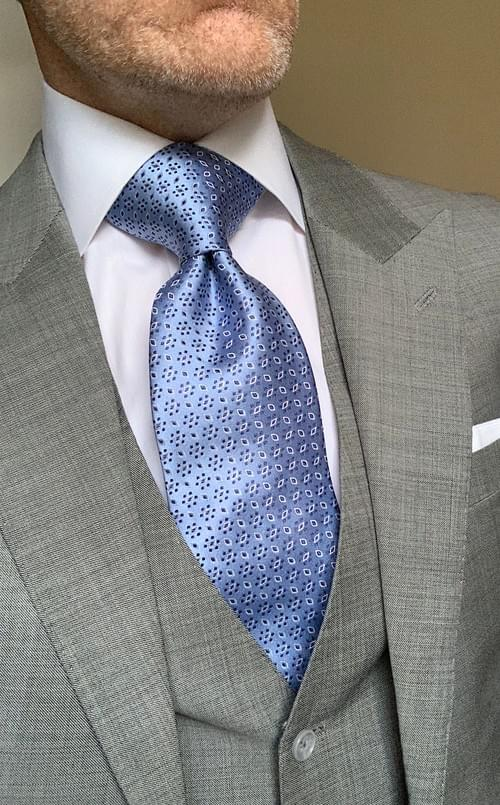 Blue Navy Snowfall Sheen Tie