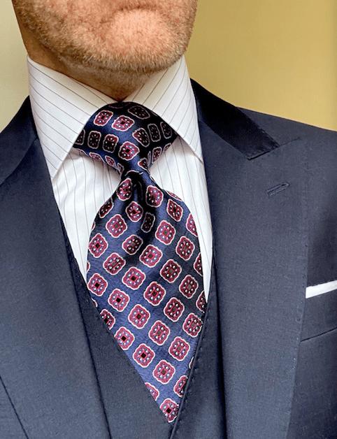 NEW - Navy Red Ambassador Tie