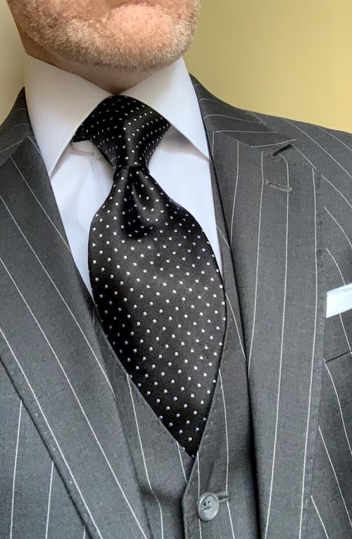 NEW - Black Micro-Dot Tie