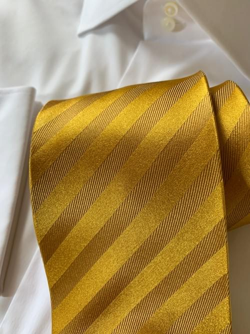 NEW - Golden Shimmer Striped Tie
