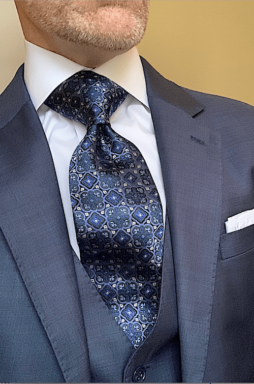 CLEARANCE:  Blue Icy Moss Stained Glass Tie