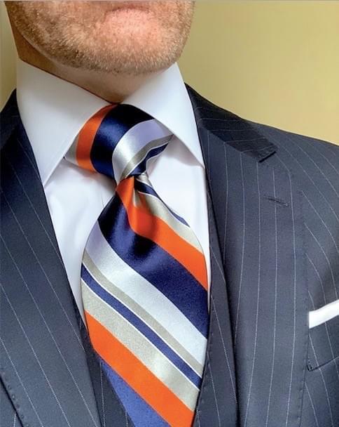 NEW - Lukas Striped Tie - Orange